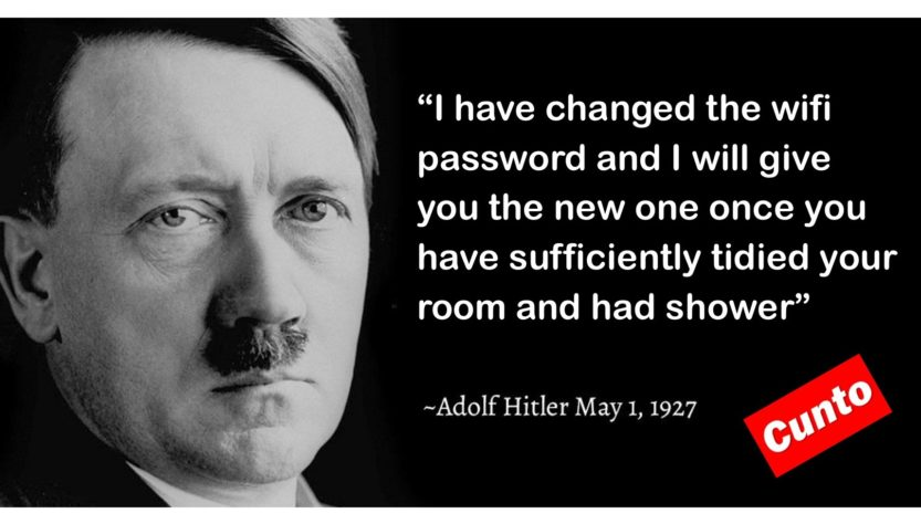 Hitler being a cunt about the wifi
