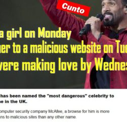 Craig David most dangerous celebrity