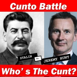 Joe Stalin vs Jez Hunt, both are wankers, but who is the cunt?