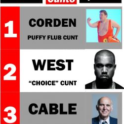 Top 3 Cunts of The Week