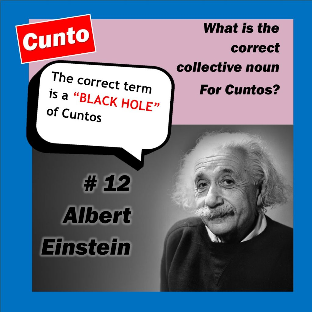 Albert Einstein Cunto Collective Noun