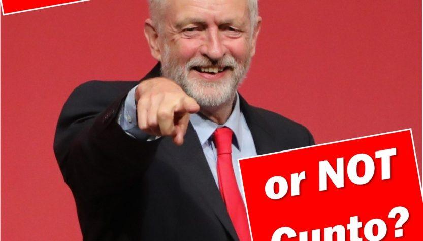 Jeremy Corbyn cunto or not cunto