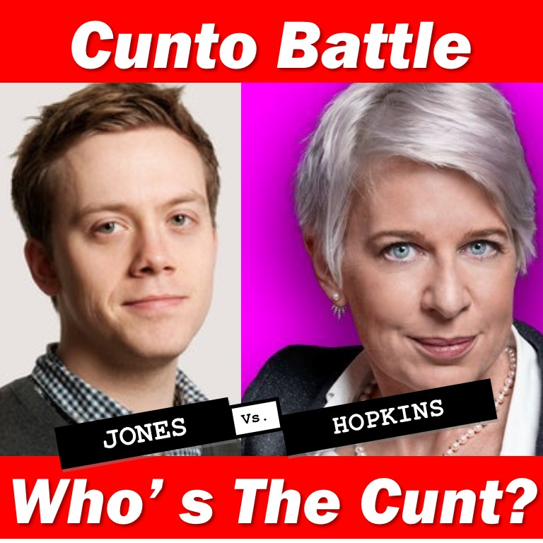 Owen Jones v Katie Hopkins Cunt poll