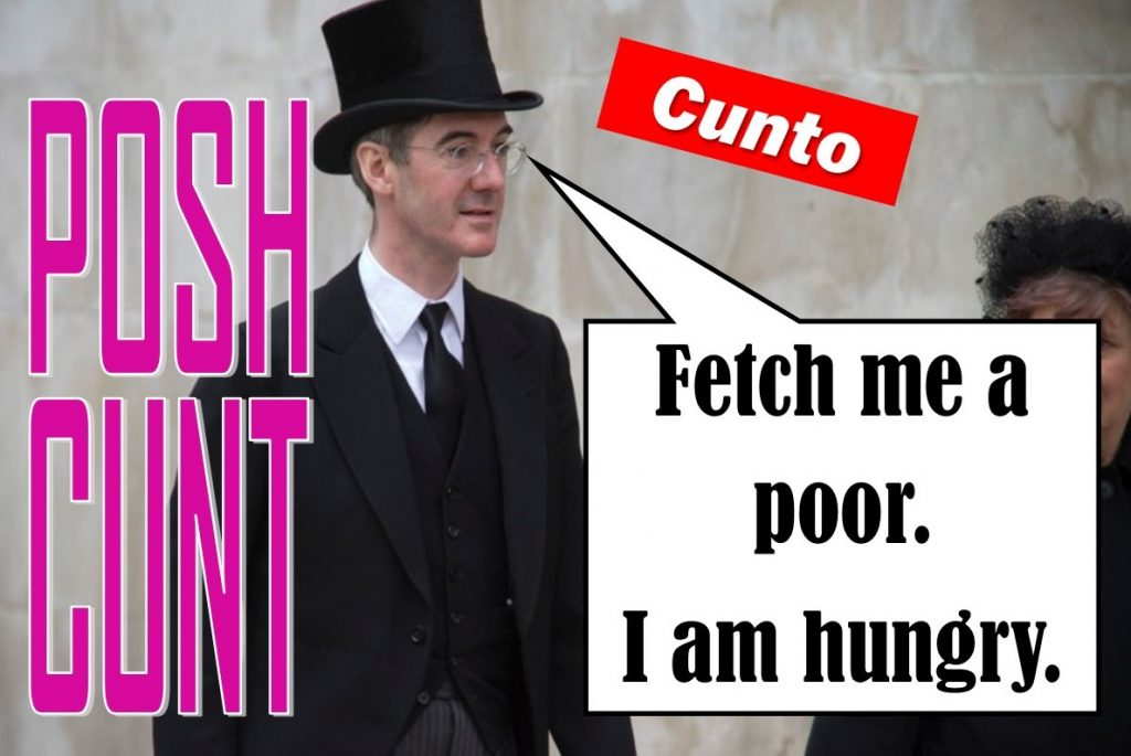 Jacob Rees Mogg in hunger mode