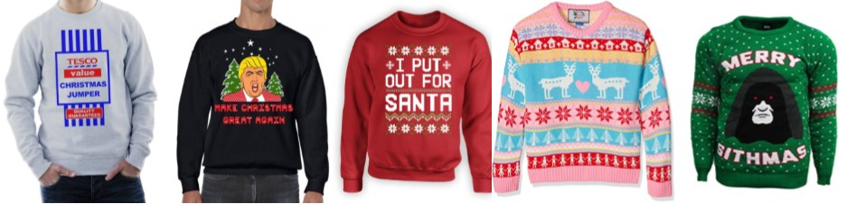 5 ridiculous christmas jumpers