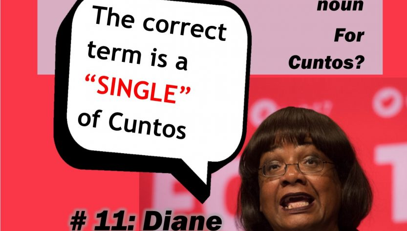 Diane Abbot and the Collective Noun for Cunts