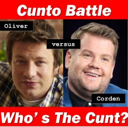 Jamie Oliver and James Corden are cunts