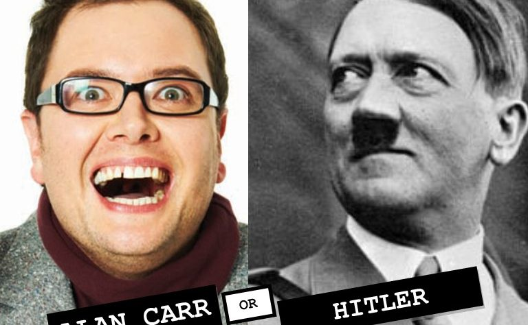 Alan Carr versus Adolf Hitler cunt battle
