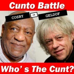 Cunto Battle: Bill Cosby v Bob Geldof