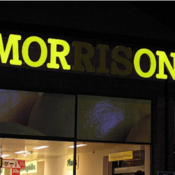 Morrisons with lights out spells Morons
